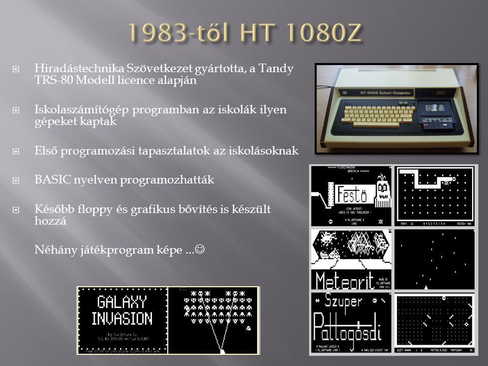 1983-től HT 1080Z Hiradástechnika Szövetkezet gyártotta, a Tandy TRS-80 Modell licence alapján.
