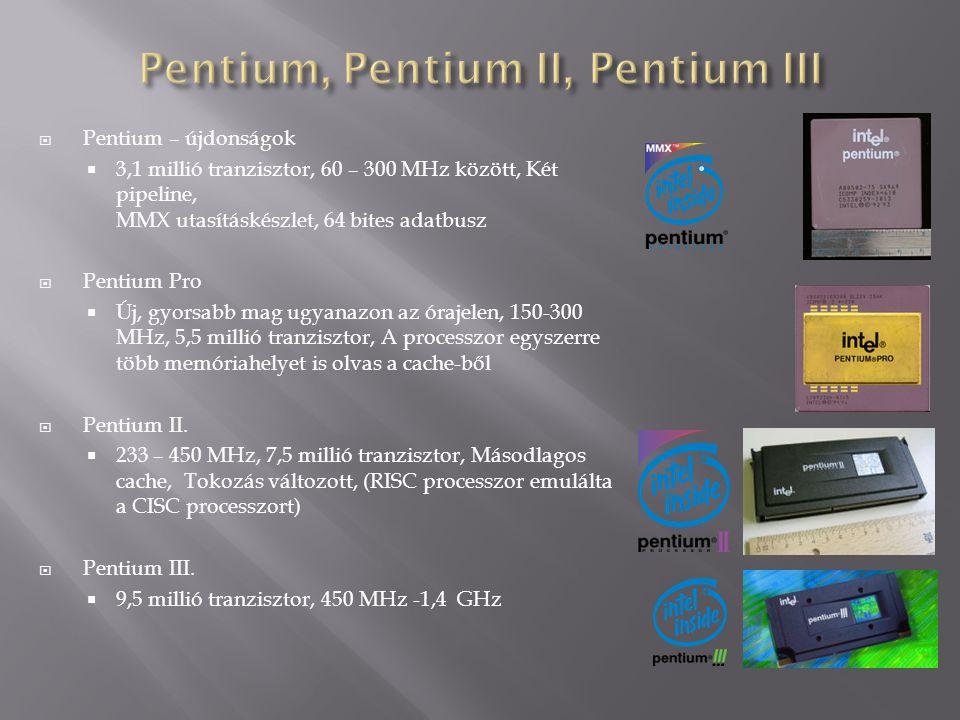 Pentium, Pentium II, Pentium III