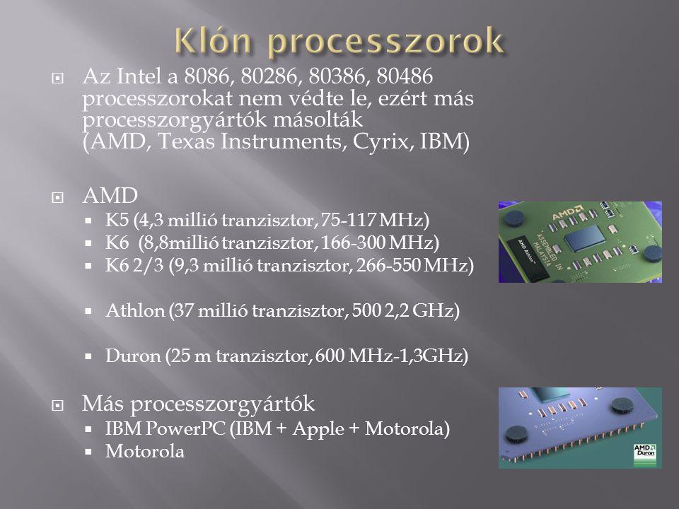 Klón processzorok