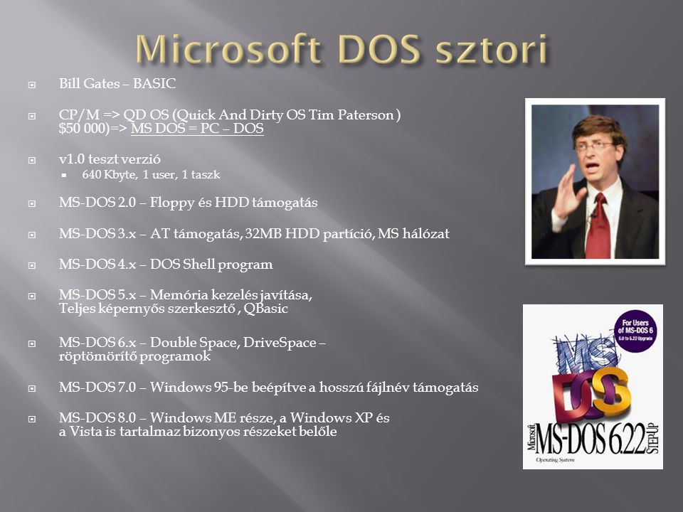 Microsoft DOS sztori Bill Gates – BASIC