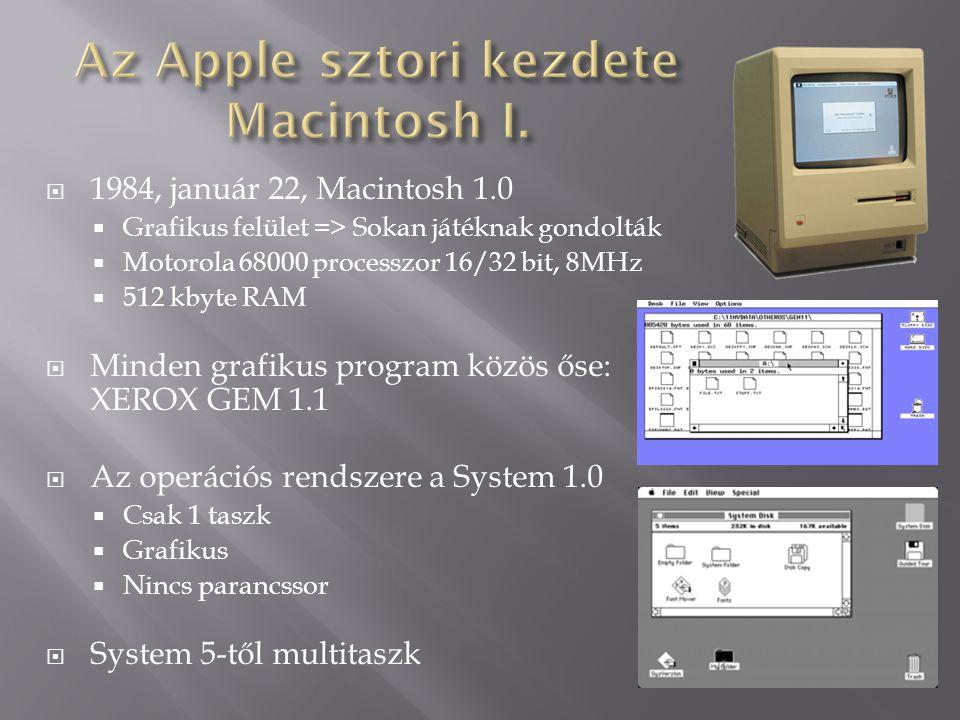Az Apple sztori kezdete Macintosh I.