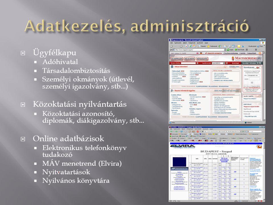 Adatkezelés, adminisztráció
