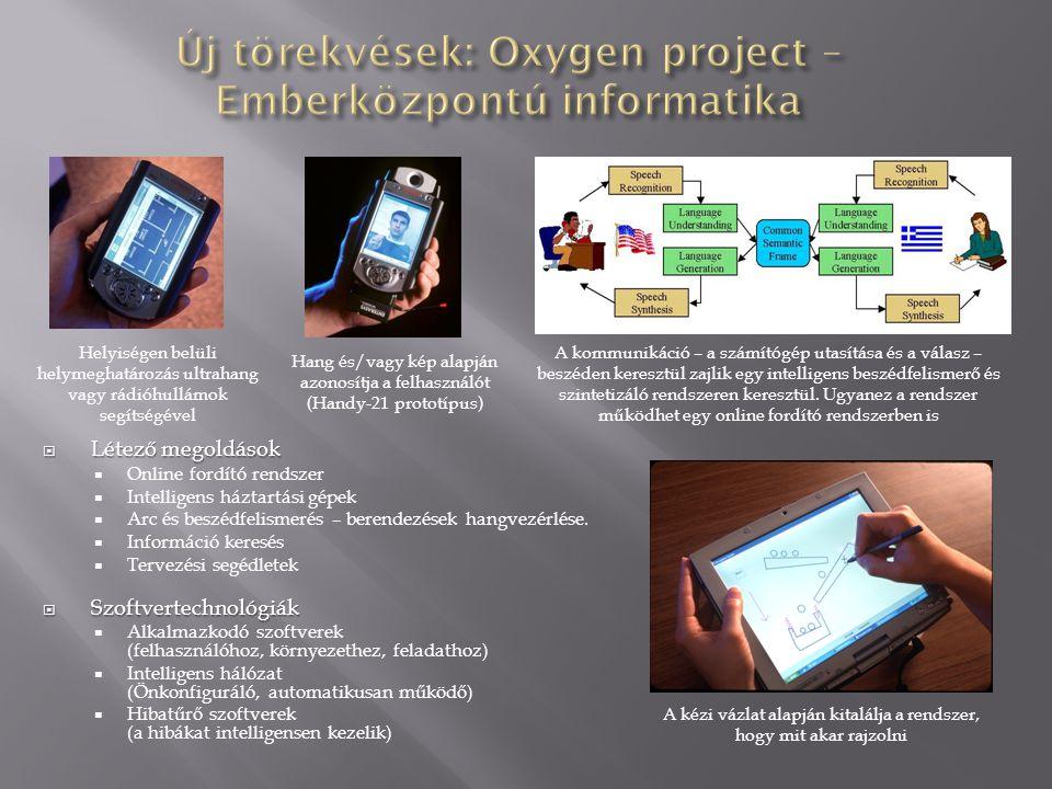 Új törekvések: Oxygen project – Emberközpontú informatika