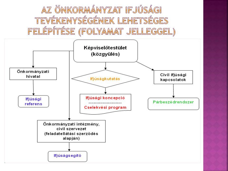 Az önkormányzat ifjúsági tevékenységének lehetséges felépítése (folyamat jelleggel)