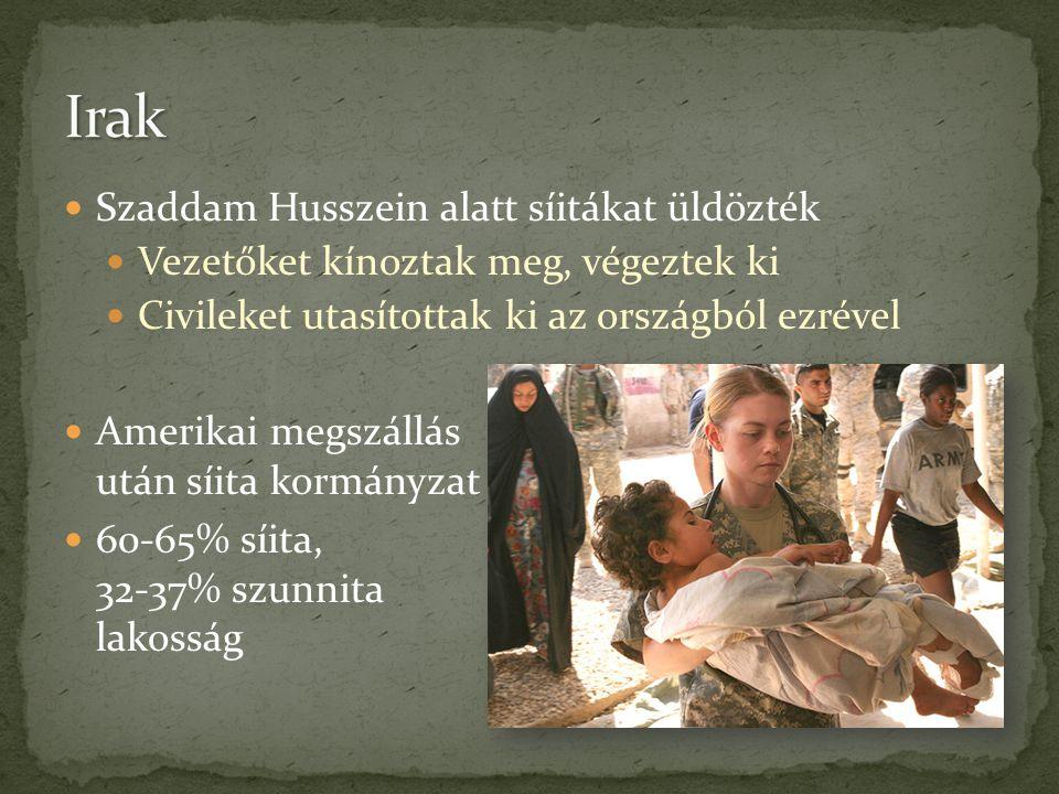Irak Szaddam Husszein alatt síitákat üldözték