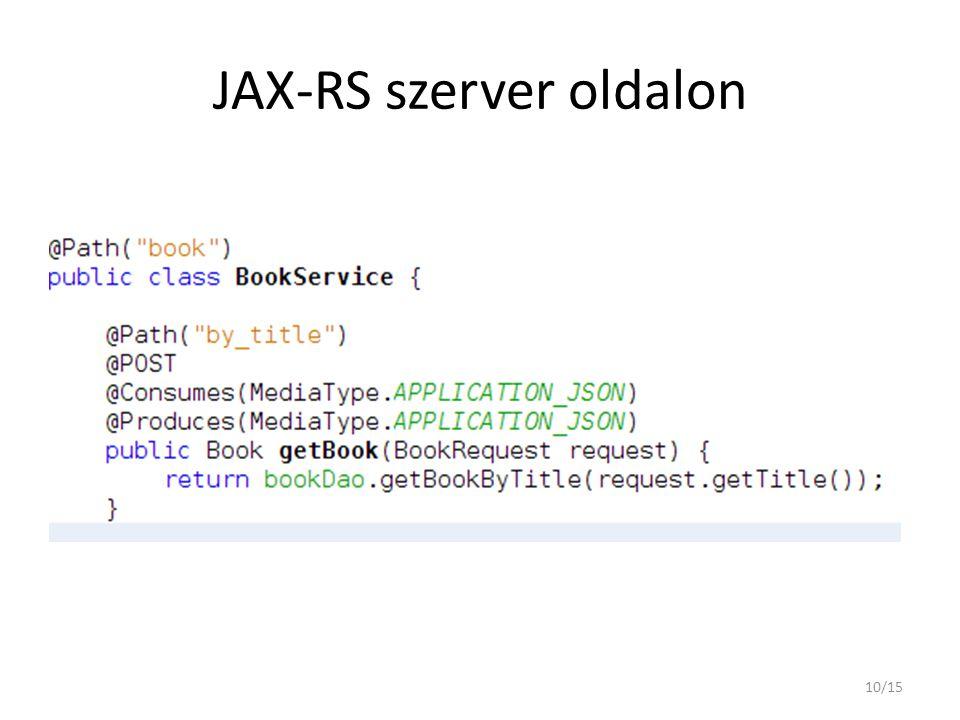 JAX-RS szerver oldalon