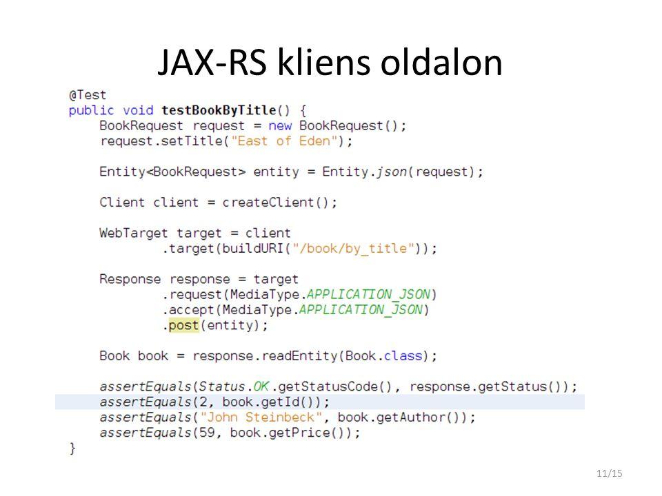 JAX-RS kliens oldalon
