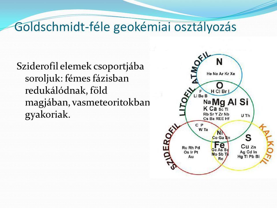 Goldschmidt-féle geokémiai osztályozás