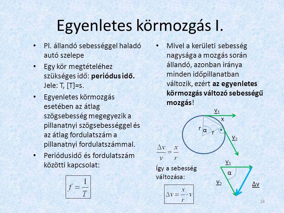 Egyenletes körmozgás I.
