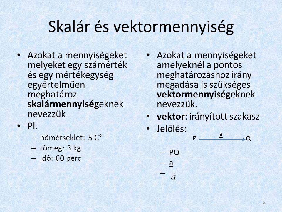 Skalár és vektormennyiség