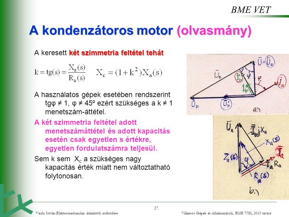 A kondenzátoros motor (olvasmány)