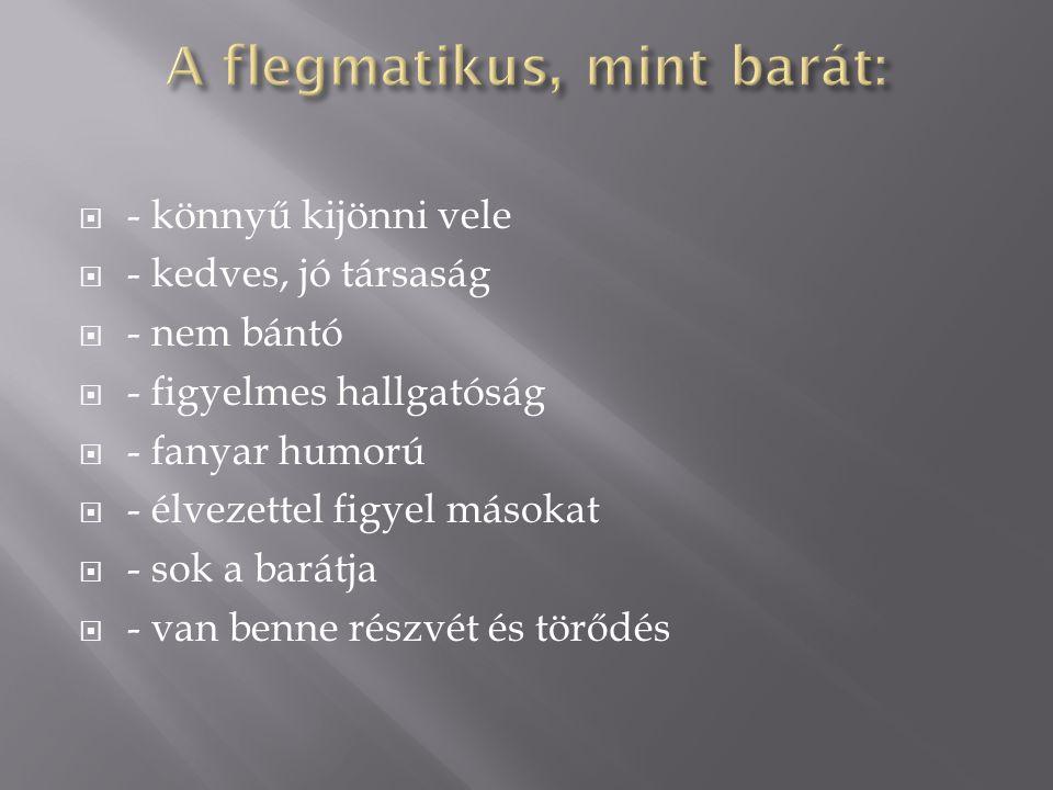 A flegmatikus, mint barát: