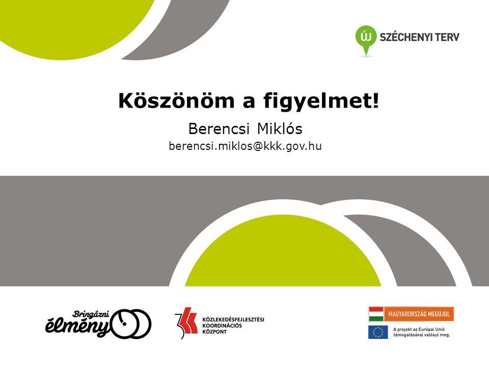 Köszönöm a figyelmet! Berencsi Miklós berencsi.miklos@kkk.gov.hu