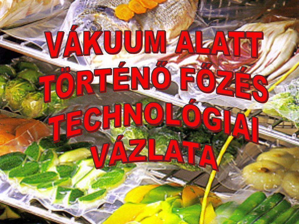 VÁKUUM ALATT TÖRTÉNŐ FŐZÉS TECHNOLÓGIAI VÁZLATA