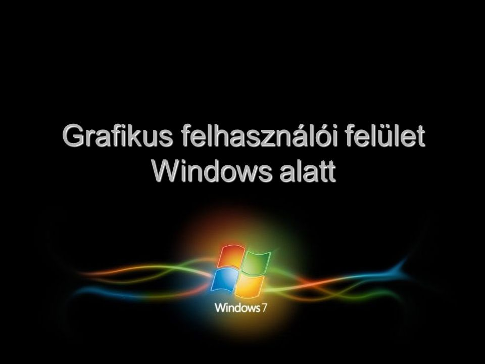 Grafikus felhasználói felület Windows alatt