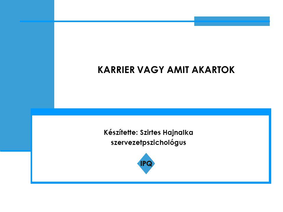 KARRIER VAGY AMIT AKARTOK