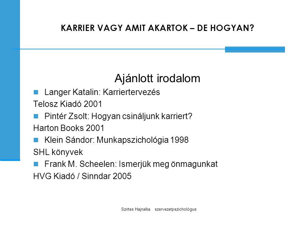 KARRIER VAGY AMIT AKARTOK – DE HOGYAN