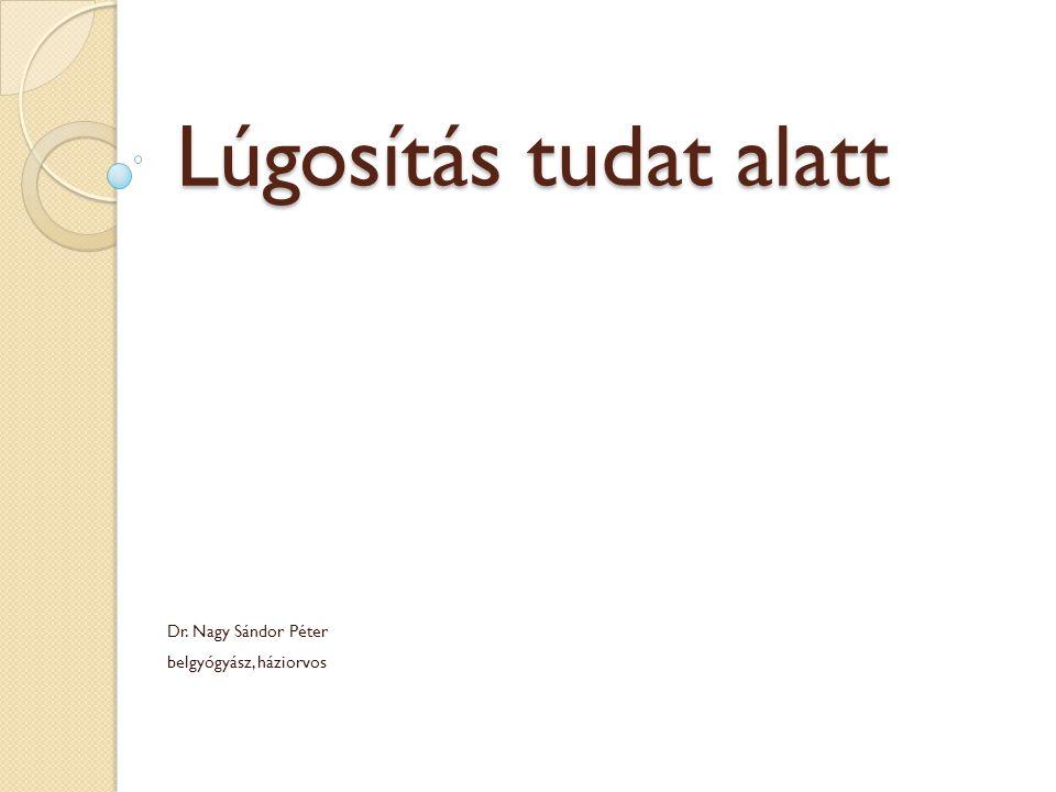 Dr. Nagy Sándor Péter belgyógyász, háziorvos