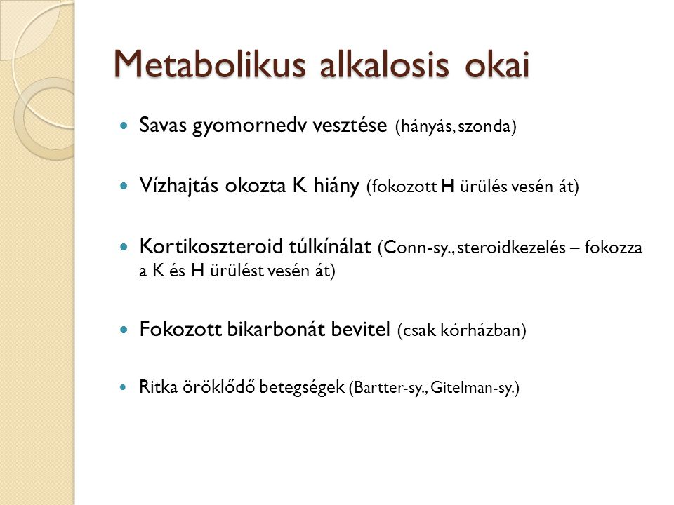 Metabolikus alkalosis okai