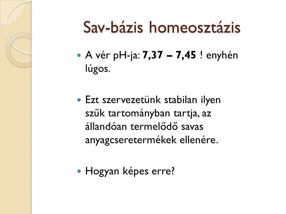 Sav-bázis homeosztázis