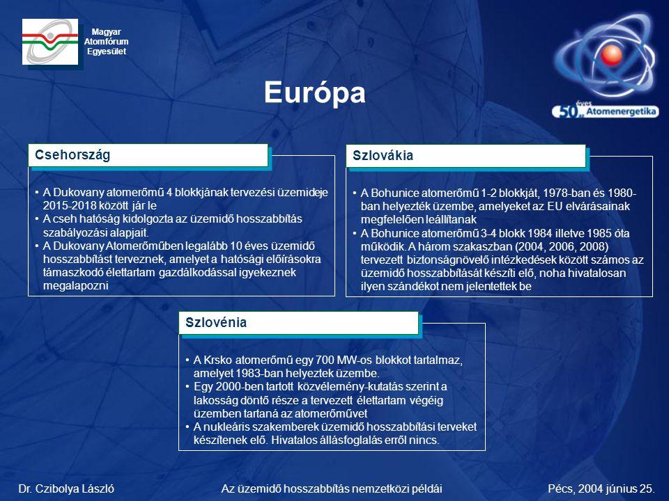 Európa Csehország Szlovákia Szlovénia