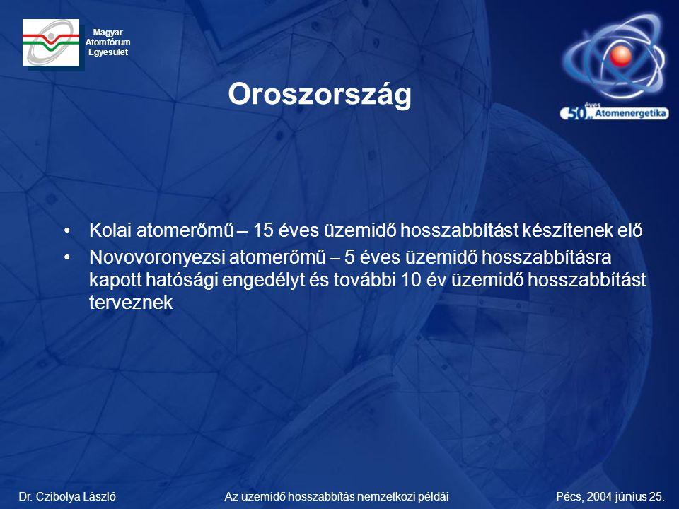 Oroszország Kolai atomerőmű – 15 éves üzemidő hosszabbítást készítenek elő.