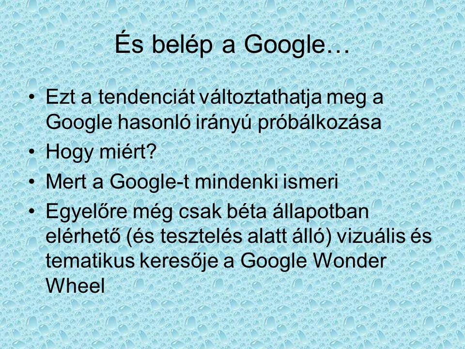 És belép a Google… Ezt a tendenciát változtathatja meg a Google hasonló irányú próbálkozása. Hogy miért