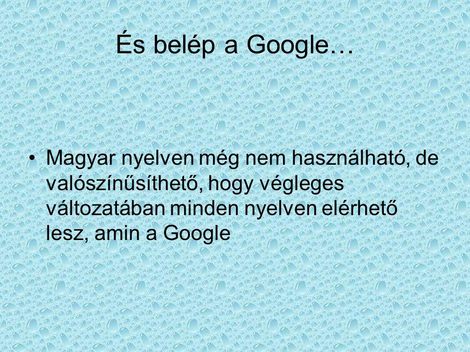 És belép a Google… Magyar nyelven még nem használható, de valószínűsíthető, hogy végleges változatában minden nyelven elérhető lesz, amin a Google.