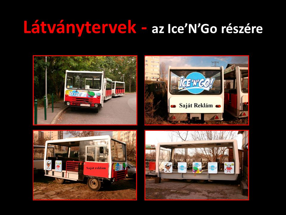 Látványtervek - az Ice'N'Go részére