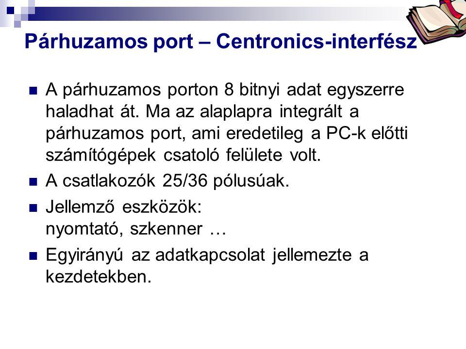 Párhuzamos port – Centronics-interfész