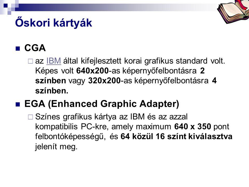Őskori kártyák CGA EGA (Enhanced Graphic Adapter)
