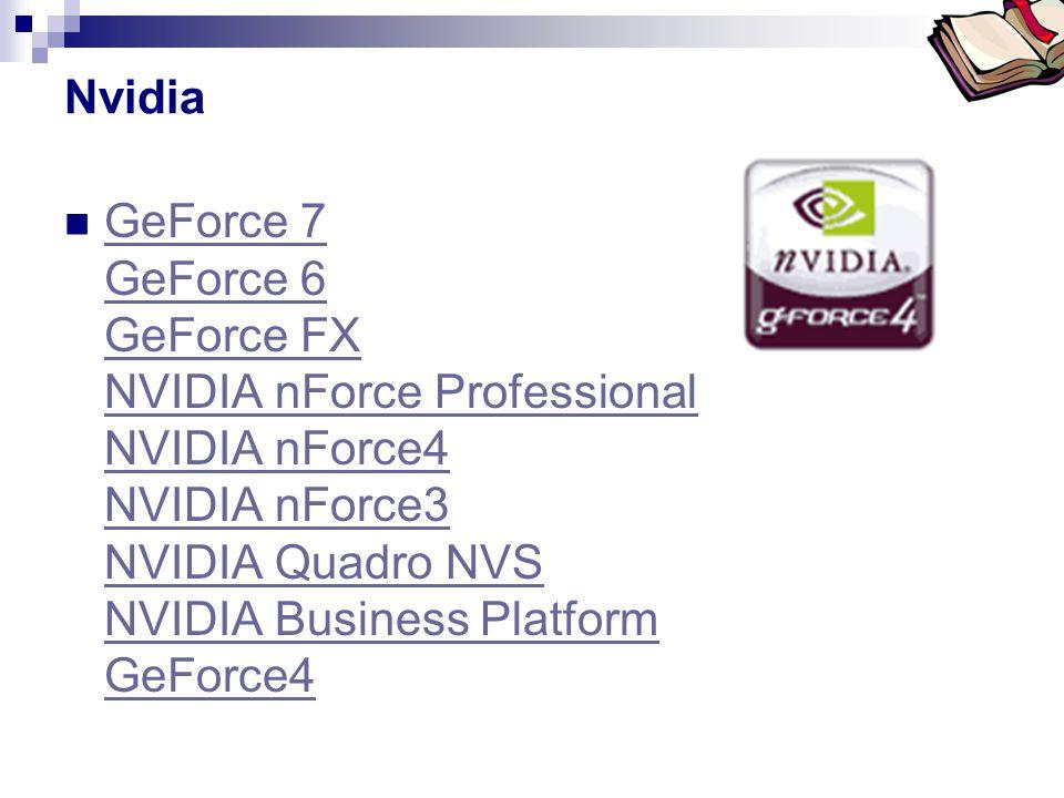 Nvidia GeForce 7 GeForce 6 GeForce FX NVIDIA nForce Professional NVIDIA nForce4 NVIDIA nForce3 NVIDIA Quadro NVS NVIDIA Business Platform GeForce4.