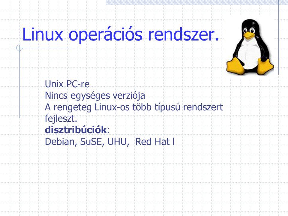 Linux operációs rendszer.