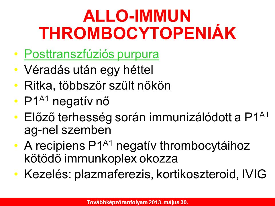 ALLO-IMMUN THROMBOCYTOPENIÁK