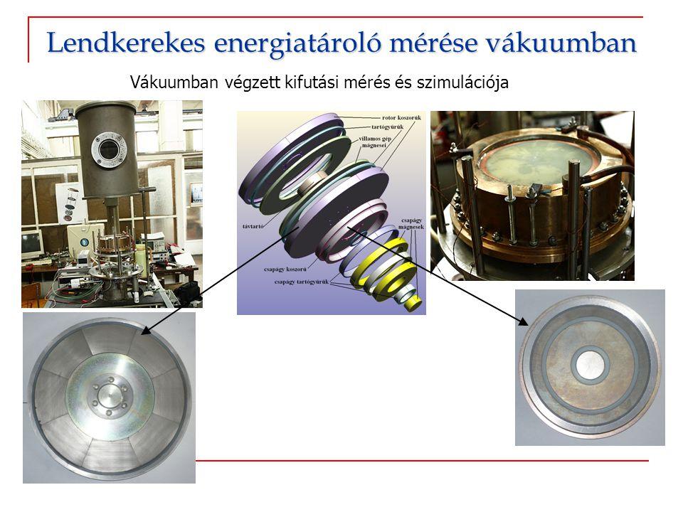 Lendkerekes energiatároló mérése vákuumban
