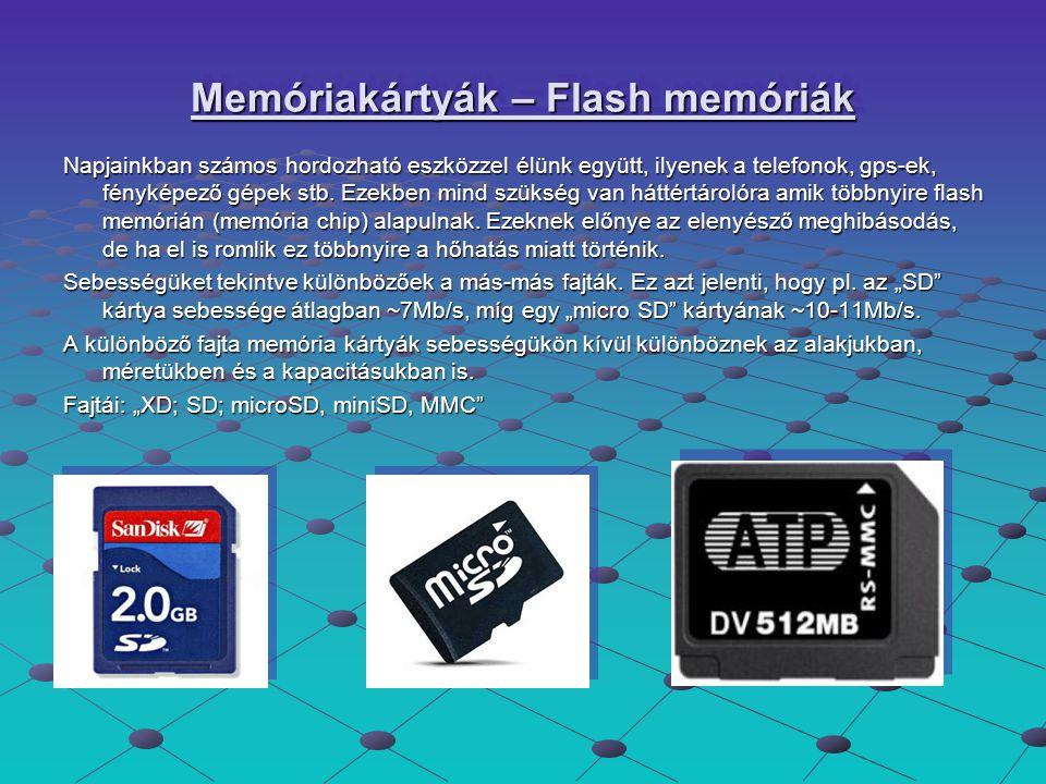 Memóriakártyák – Flash memóriák