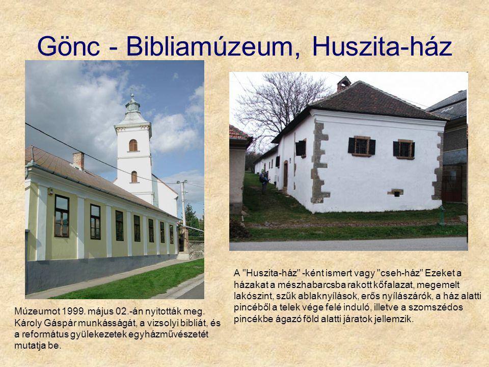 Gönc - Bibliamúzeum, Huszita-ház