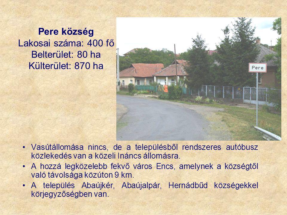 Lakosai száma: 400 fő Belterület: 80 ha Külterület: 870 ha