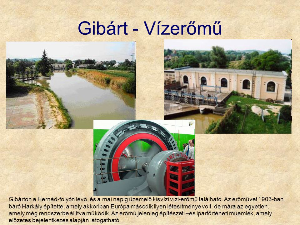 Gibárt - Vízerőmű