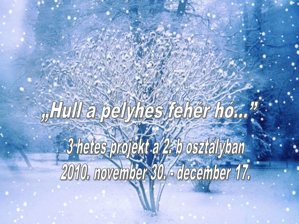 """""""Hull a pelyhes fehér hó…"""