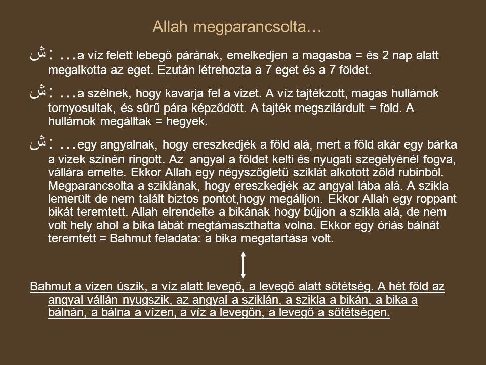 Allah megparancsolta…
