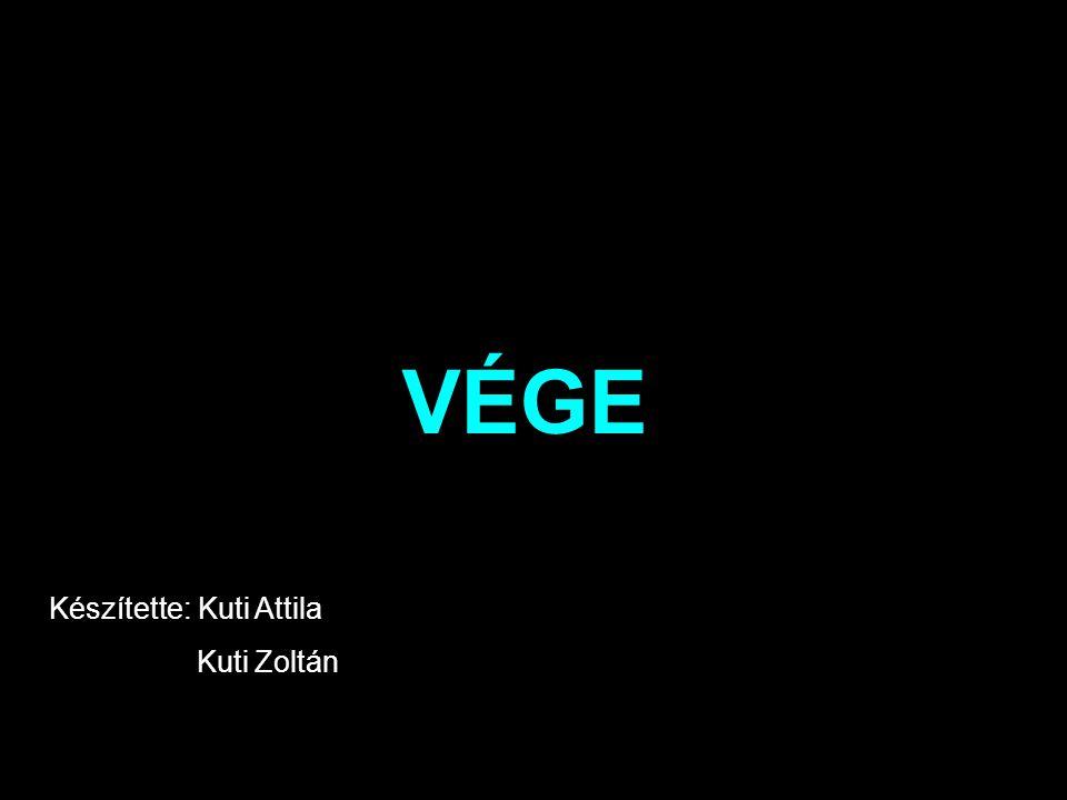 VÉGE Készítette: Kuti Attila Kuti Zoltán