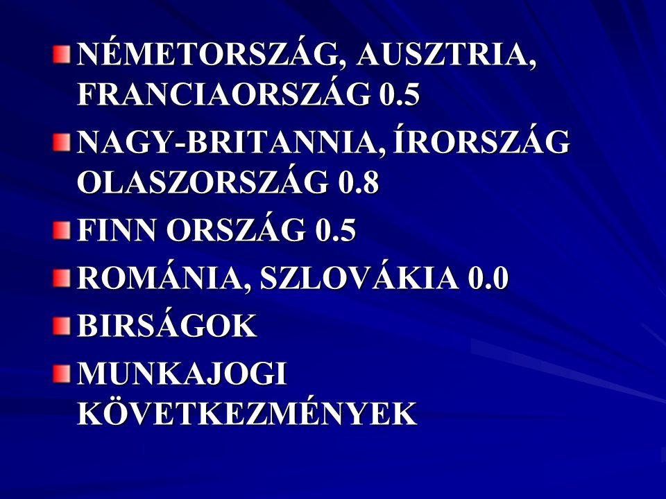 NÉMETORSZÁG, AUSZTRIA, FRANCIAORSZÁG 0.5
