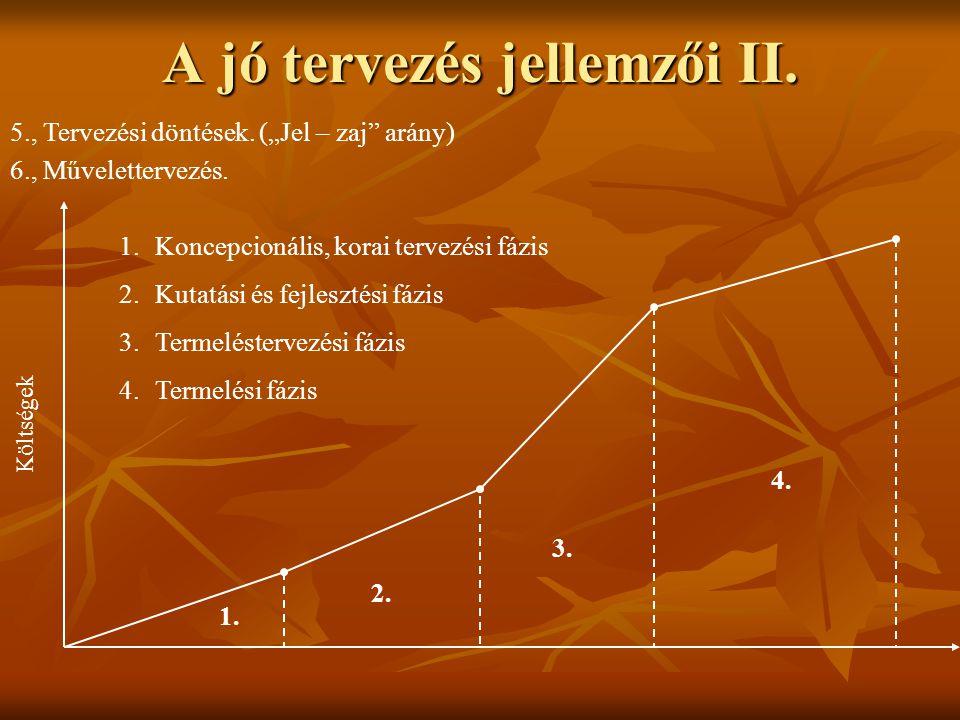 A jó tervezés jellemzői II.