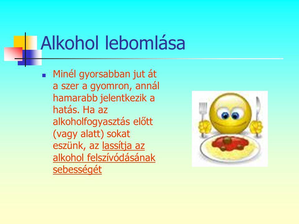 Alkohol lebomlása