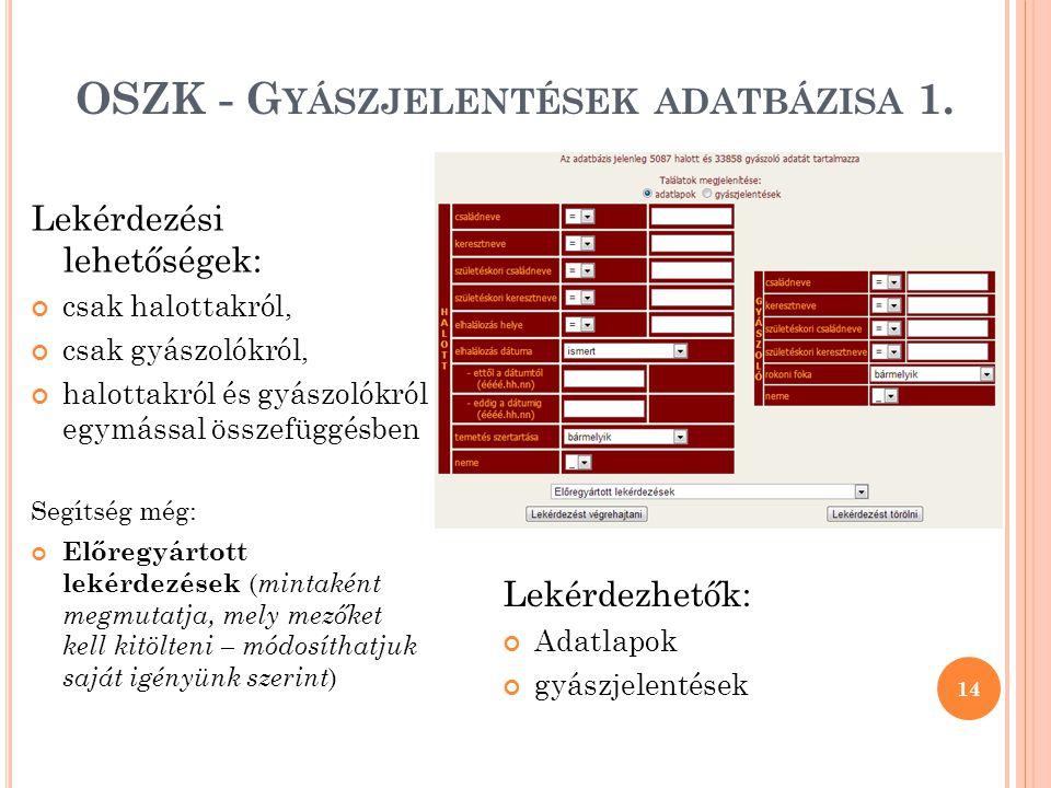 OSZK - Gyászjelentések adatbázisa 1.