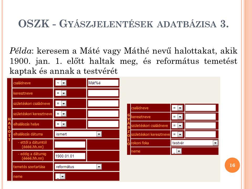 OSZK - Gyászjelentések adatbázisa 3.