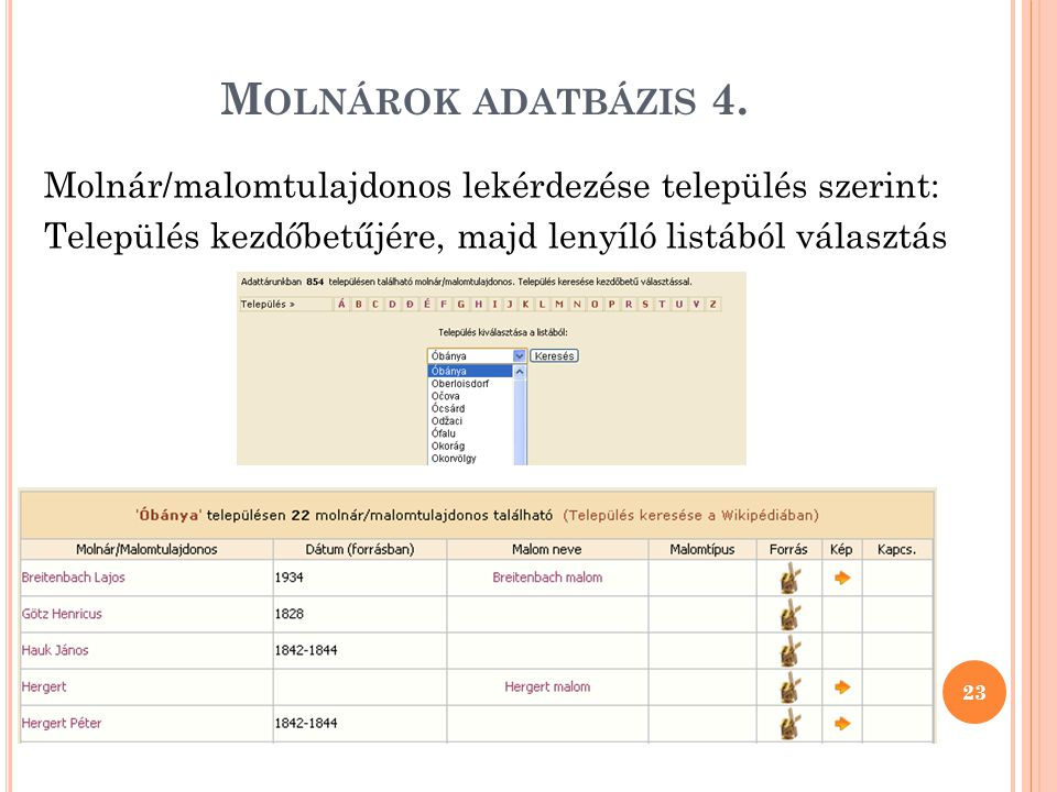 Molnárok adatbázis 4.