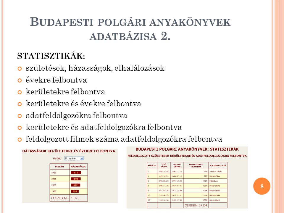 Budapesti polgári anyakönyvek adatbázisa 2.