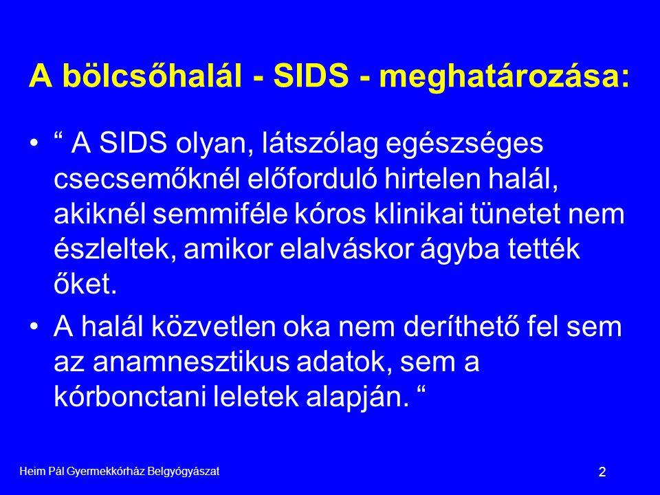 A bölcsőhalál - SIDS - meghatározása: